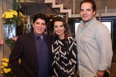 Dito Machado ,  Marcia Travessoni  e Thiago Holanda