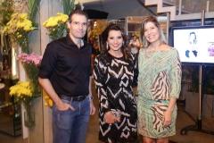 Eduardo Figueiredo , Marcia Travessoni e Elisa Figueiredo
