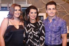 Lia Pinheiro, Marcia Travessoni e Rodrigo Maia