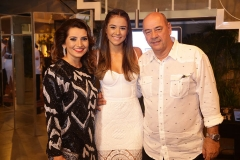 Marcia, Talita e Fernando Travessoni