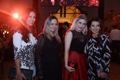 Michele Guimarães, Sandra Cruz,  Poliana Almeida e Marcia Travessoni