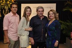 Milo Filho, Natalia Magalhães, Paulo e Adelia Magalhães