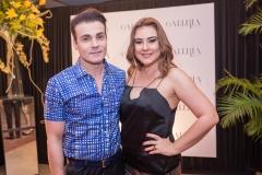 Rodrigo Maia e Lia Pinheiro