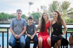 Adriano, Pedro, Arani e Ana Luiza Picanço