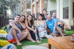 Fernandinho, Talita, Márcia, Lara, Cris, Fernado Travessoni e Fernando
