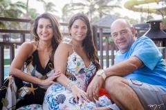 Márcia, Lara e Fernando Travessoni
