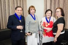 César Barros Leal, Revia Herculano, Noemi Elisa Aderaldo e Madalena Figueiredo