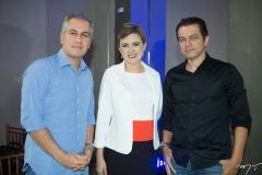 Adolfo Bichucher, Mirela Forte e Cláudio Moreira