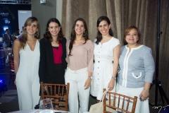 Denise Montenegro, Patrícia Teles, Vivian Simões, Gisela Fujiwara e Luciana Baima