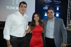 Tiago Leal, Jamila Araújo e Edson Queiroz Neto