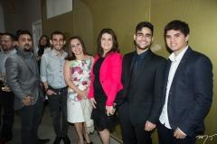 Vicente Neto, João Linhares, Carmen Linhares, Cinara Barreto, Alan Victor e Hiago Santos