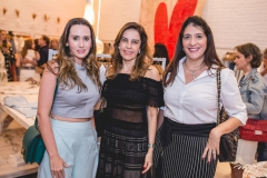 Roberta Nogueira, Rosele Diogo e Elisa Oliveira