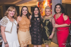 Ana Cristina Montenegro, Denise Sanford, Wania Negromonte, Excelsa Costa Lima e Izabeli Leitão