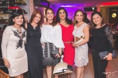 Sirlangela Maurício, Suzane Farias, Márcia Andréa, Izabeli Leitão, Ana Cristina Lima e Sandra Gurgel