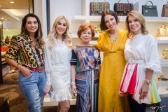 Márcia Travessoni, Priscilla Silva, Tane Albuquerque, Rafaela Furlanetto e Maira Silva