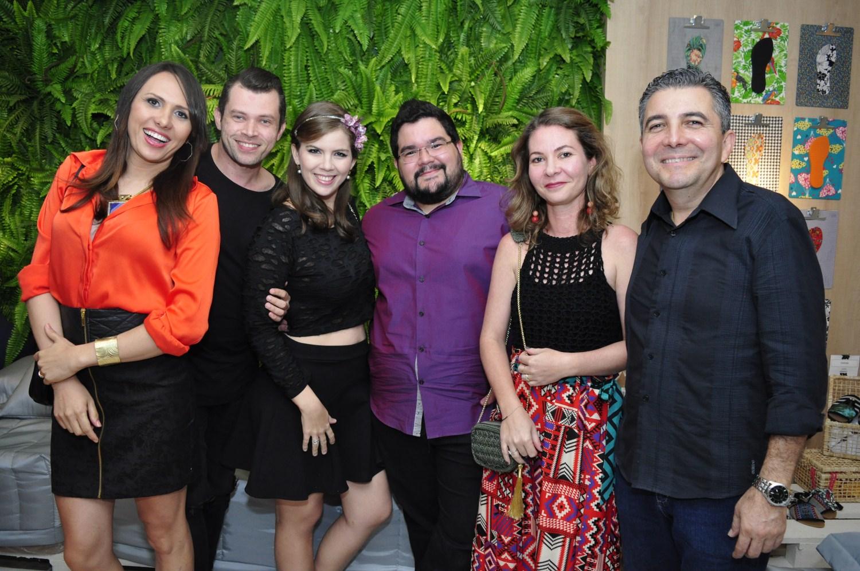 Rafaela e Andre Castro, Jomara Cid, Marcelo Lima, Joana de Paula e