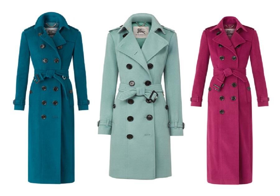 Trench coats Burberry agora de cashmere