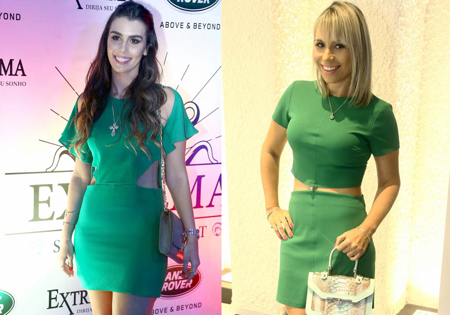 As convidadas amam tonalidades de verde!