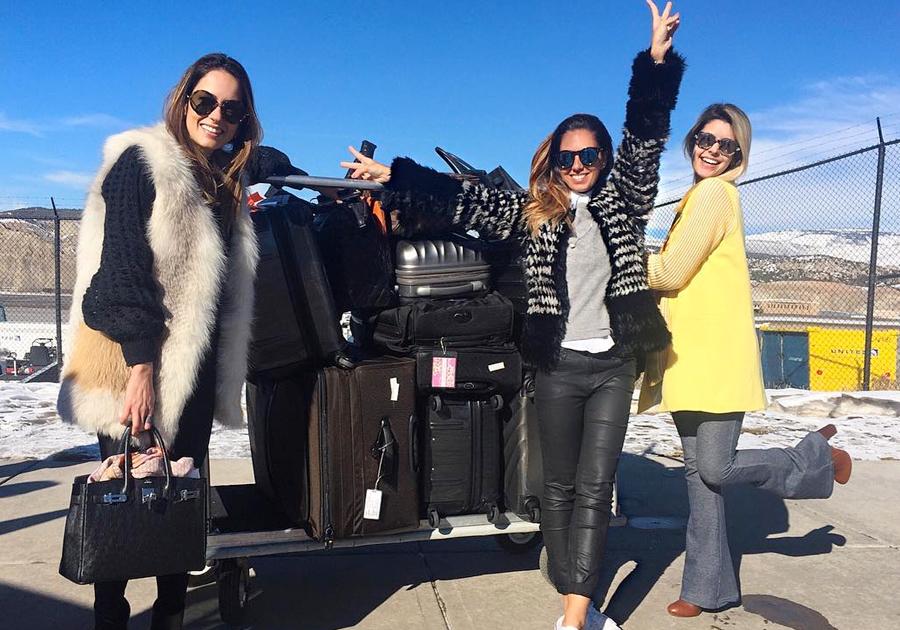 Vail, no Colorado, é o point de Marília Queiroz e Nicole Pinheiro