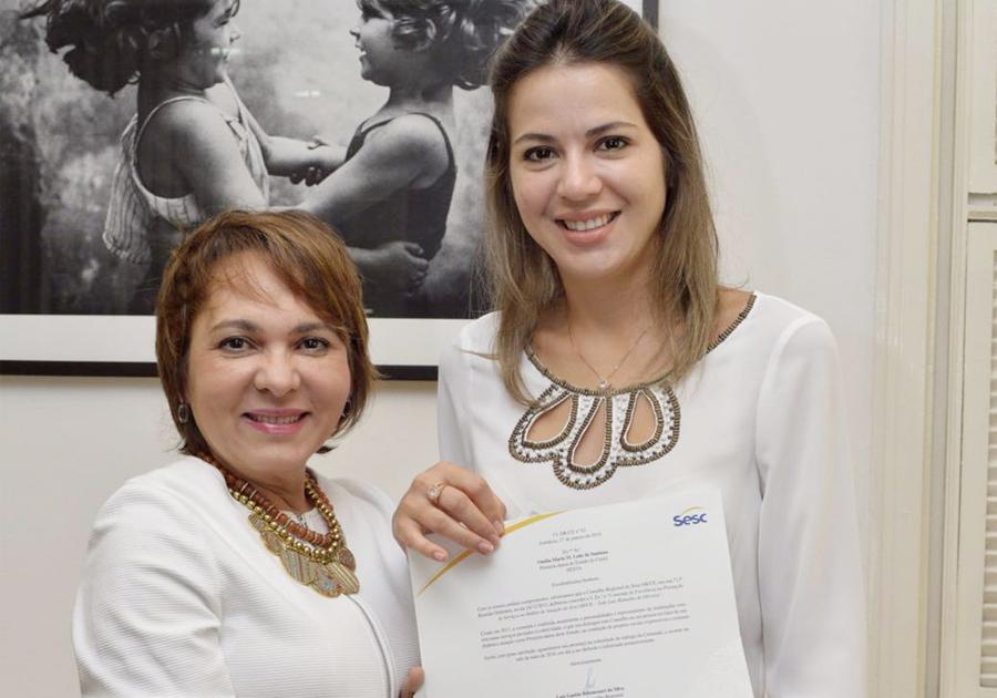 Primeira-Dama Onélia Leite será homenageada com comenda do Sesc