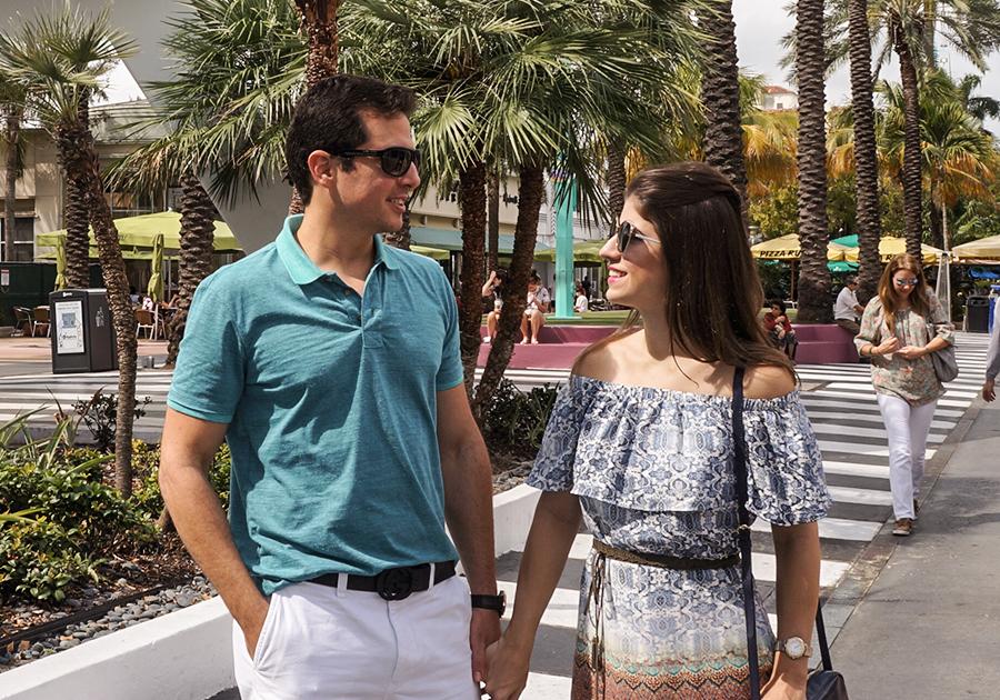 Themis e Roberto Briand aproveitando o melhor de Miami