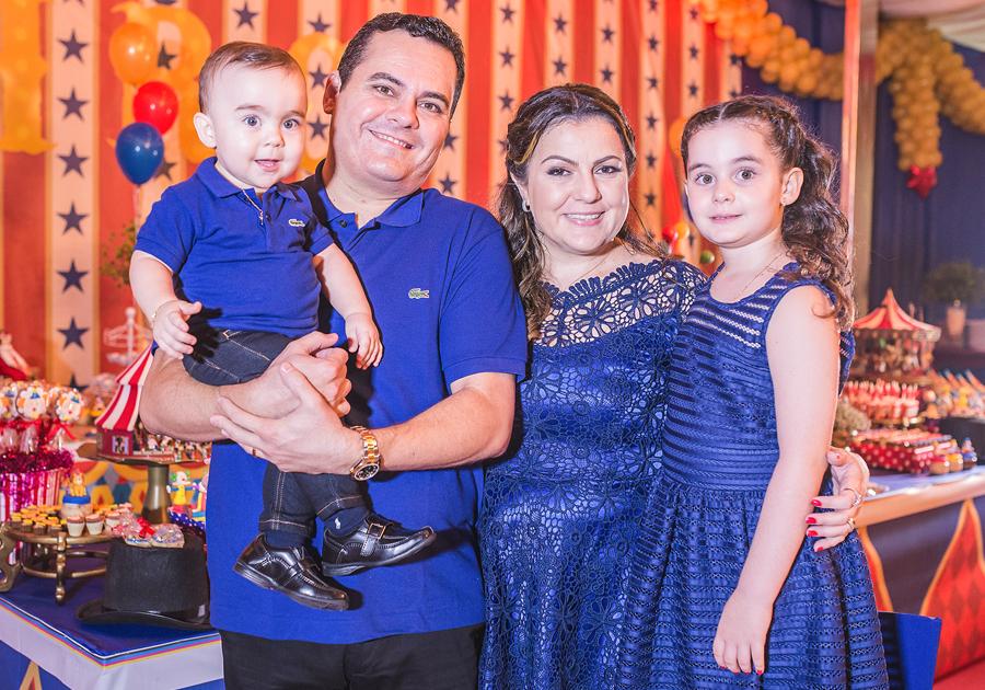 Aniversário de 1 ano de Eduardo Filho comemorado em clima circense