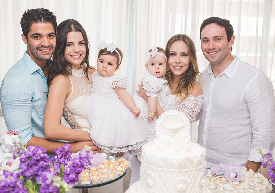 O lindo batizado de Luiza Becco e Bianca Asfor | Confira as fotos!