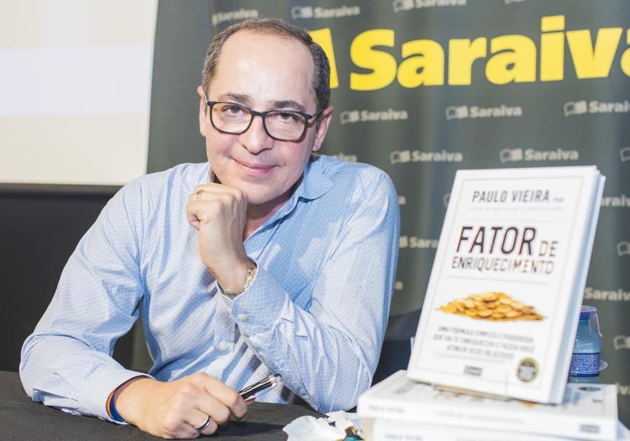 """21190b7fb291c Master coach Paulo Vieira lança o livro """"Fator de Enriquecimento"""" em  Fortaleza"""