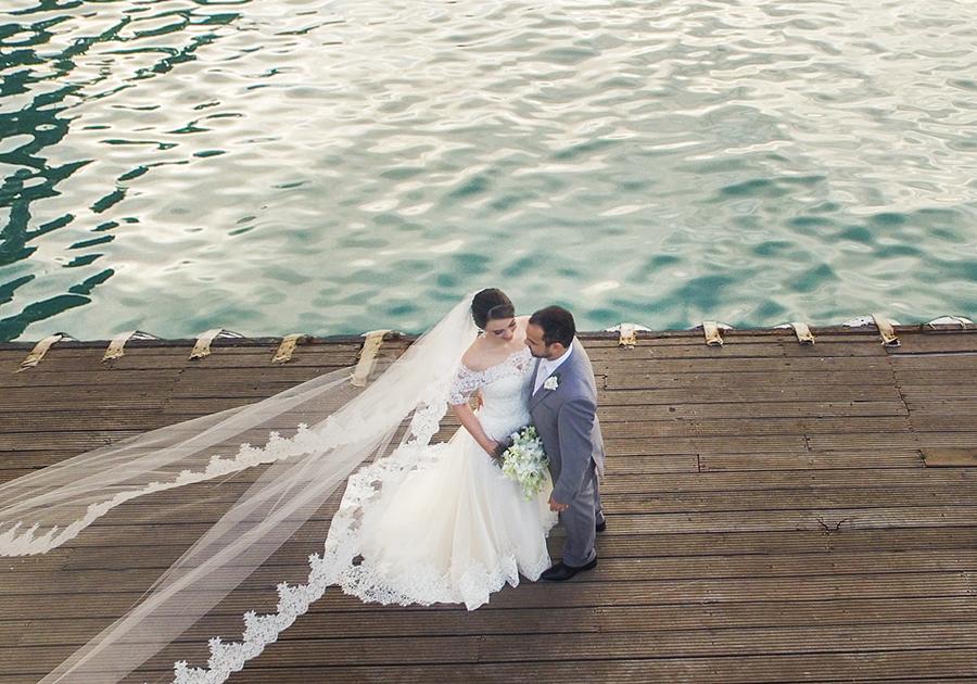 Linda cerimônia marcou o casamento de Andréa Nottingham e André Wescley