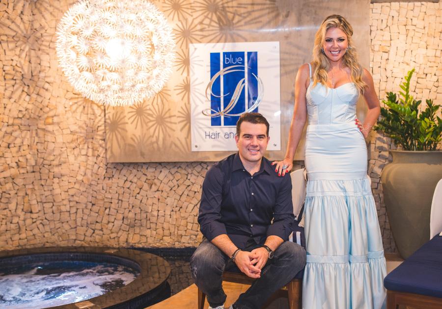 Expectativa | Paty e Danilo Dias inauguram mais um spa da rede BLUE D