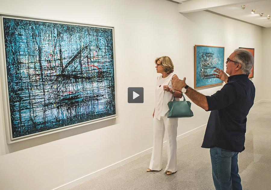 #GaleriaVisita a marcante exposição de Antonio Bandeira, no Espaço Cultural Unifor