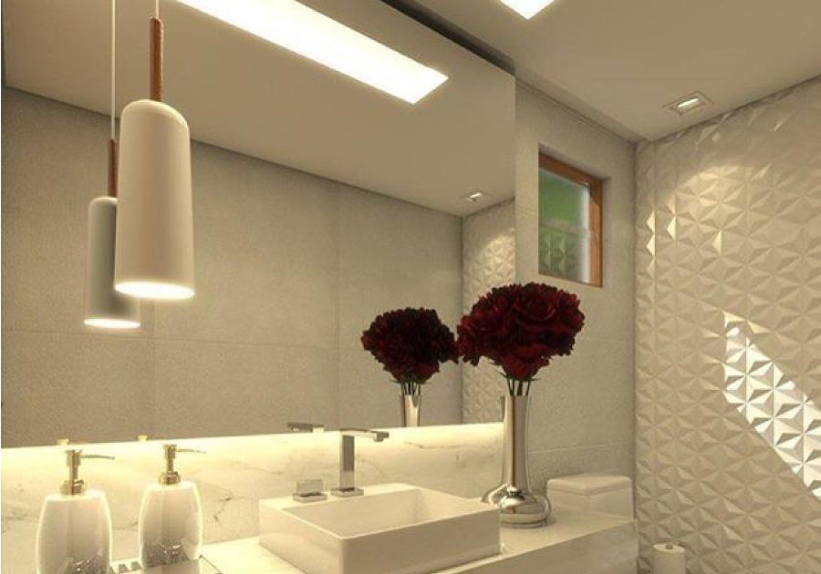 Lavabos luxuosos   Inspire-se com projetos que apostam em iluminação e design