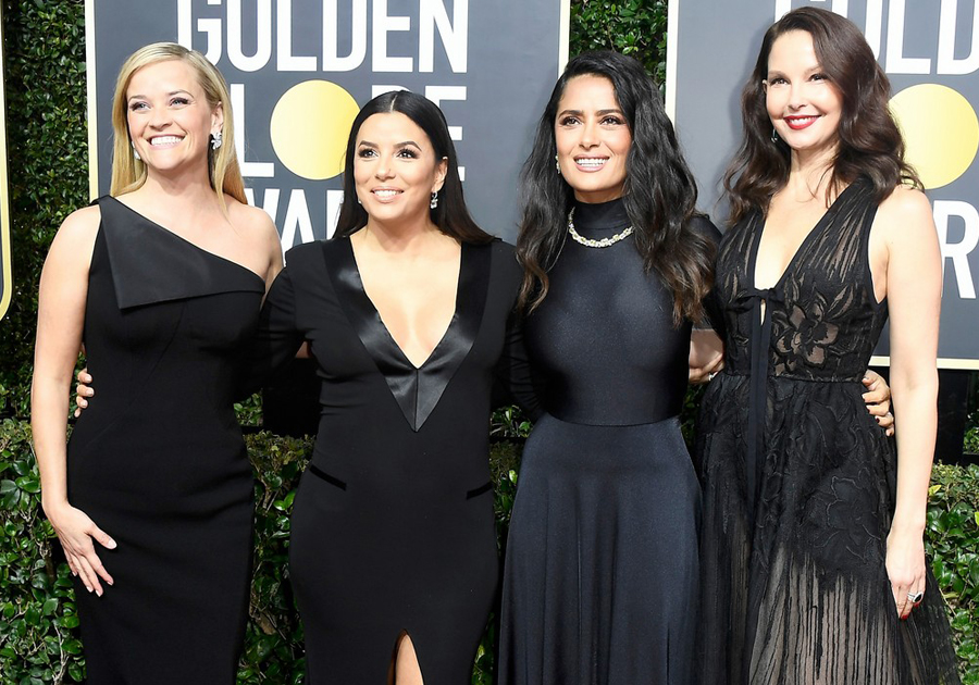 O look preto como manifesto no red carpet do Golden Globes 2018 | Confira!