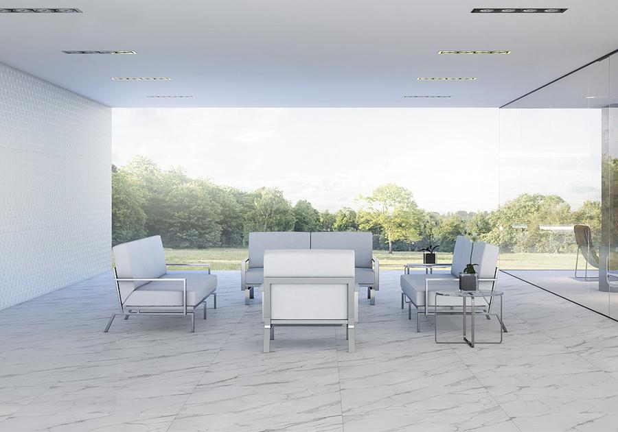 O poder das pedras naturais | Aplicação em Blanc Provence é ideal para as áreas nobres da casa