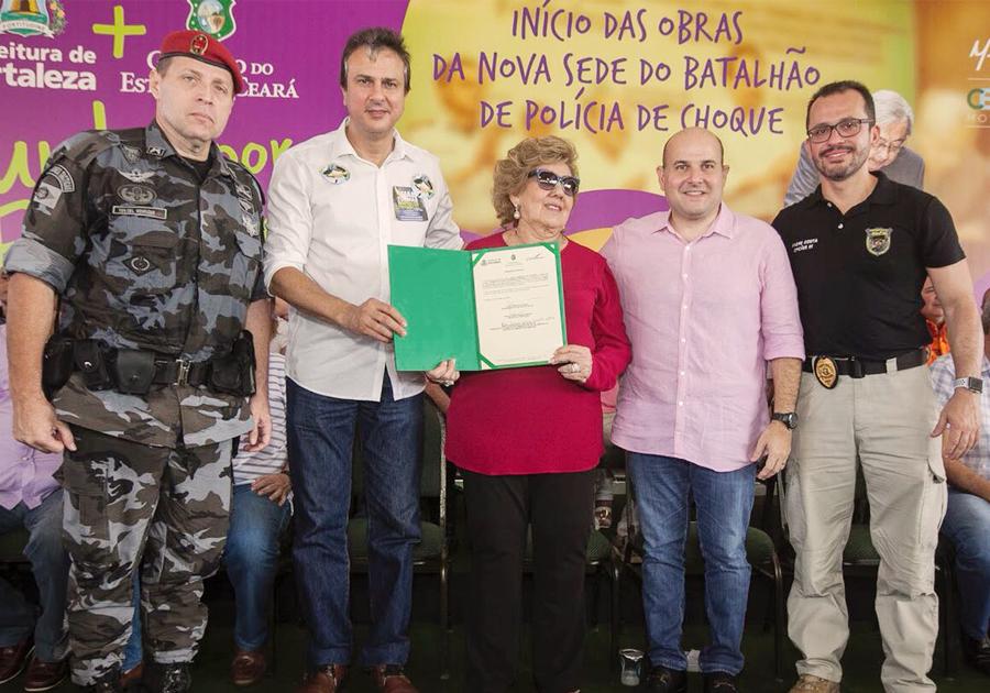 Camilo Santana assina ordem de serviço para construção de nova sede da Batalhão de Choque