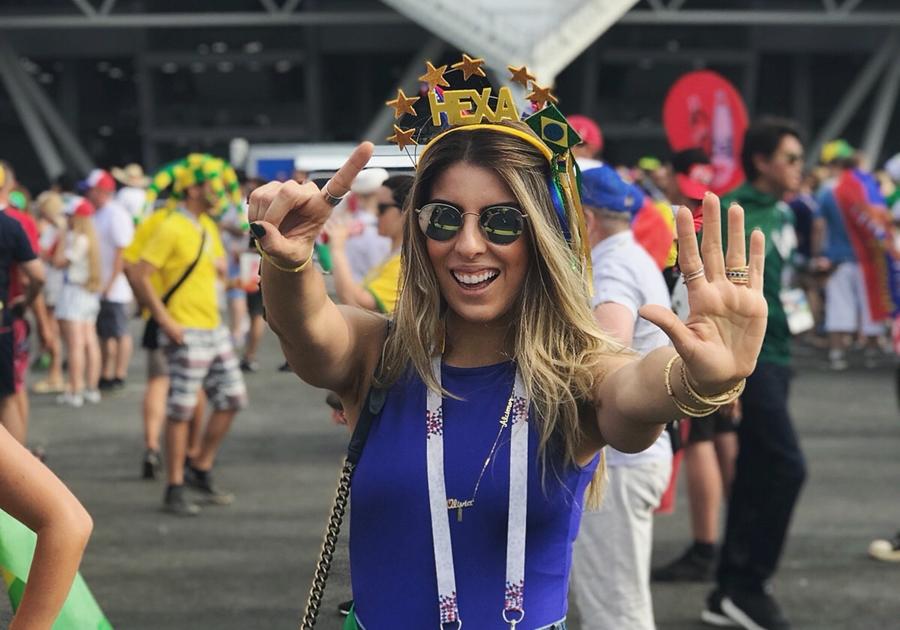 Patrícia Santiago Rocha relata experiência de assistir aos jogos do Brasil na Rússia