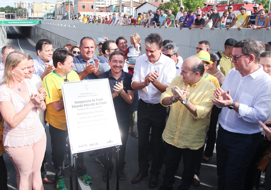Roberto Cláudio e Camilo Santana entregam túnel na Avenida Borges de Melo