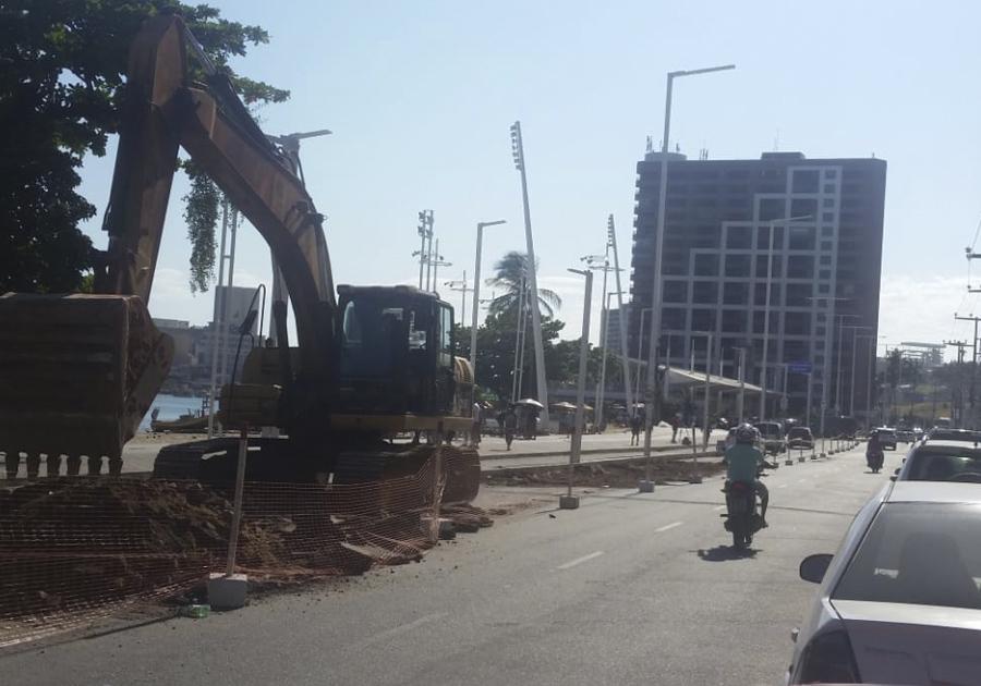 Prefeitura de Fortaleza inicia obras de requalificação na Avenida Beira-Mar
