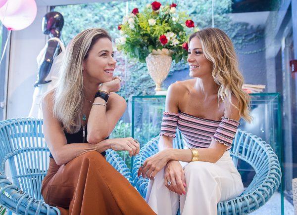 What a date; Bruna Waleska e Mirella Freire promovem tarde de bate-papo e lançamentos na Rouge