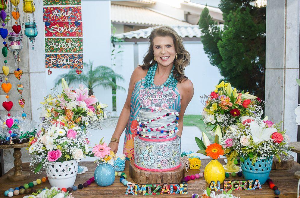Sunset colorido marca o aniversário de Alexandra Pinto, nas Dunas