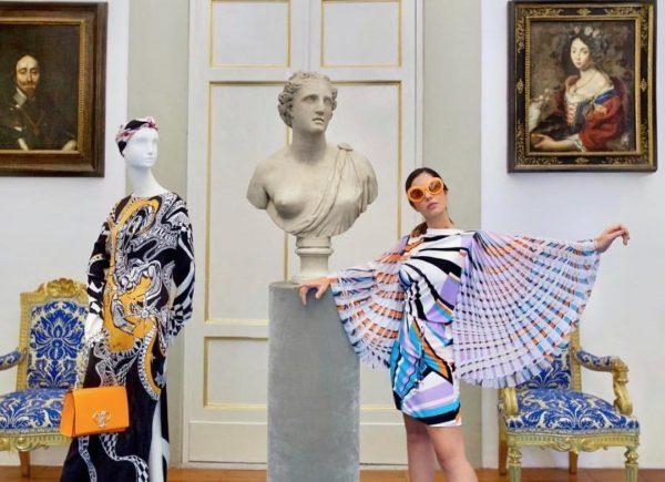 Nicole Pinheiro fotografa no Emilio Pucci Heritage Hub; filha de Pucci elogia ensaio