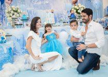 Frozen é tema da festa de 3 anos de Luiza, filha de Priscilla e Bruno Becco
