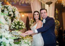 Manoela Pimenta e Matheus Mendes selam união com cerimônia na Igreja do Líbano