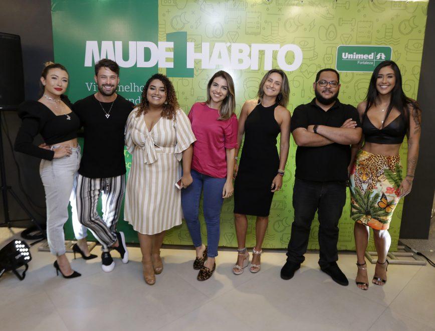 Influenciadores digitais participam do movimento Mude 1 Hábito da Unimed Fortaleza