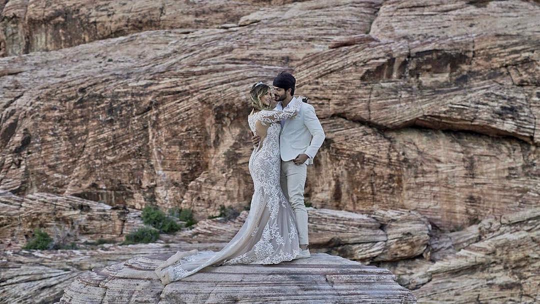 Ex-BBB Lucas Fernandes e Ana Lúcia Vilela se casam em Las Vegas
