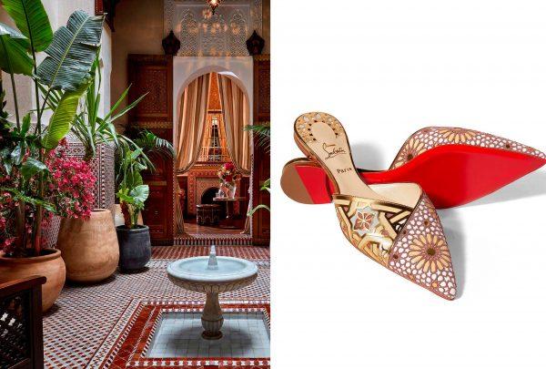 Designer Christian Louboutin lança sapato em parceria com hotel de luxo marroquino