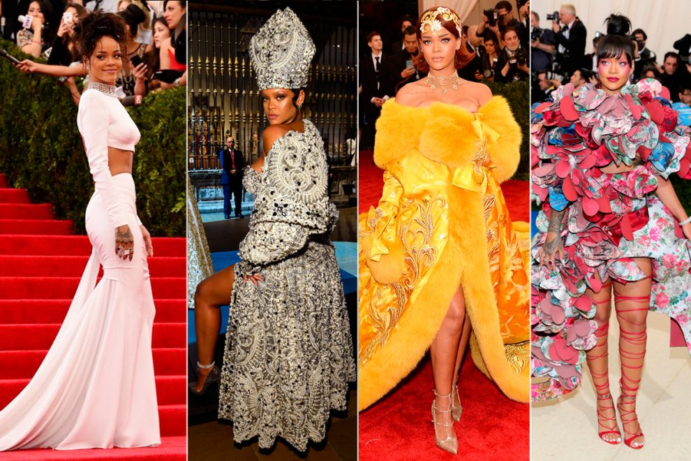 Rihanna no Met Gala: Relembre os looks mais icônicos da cantora