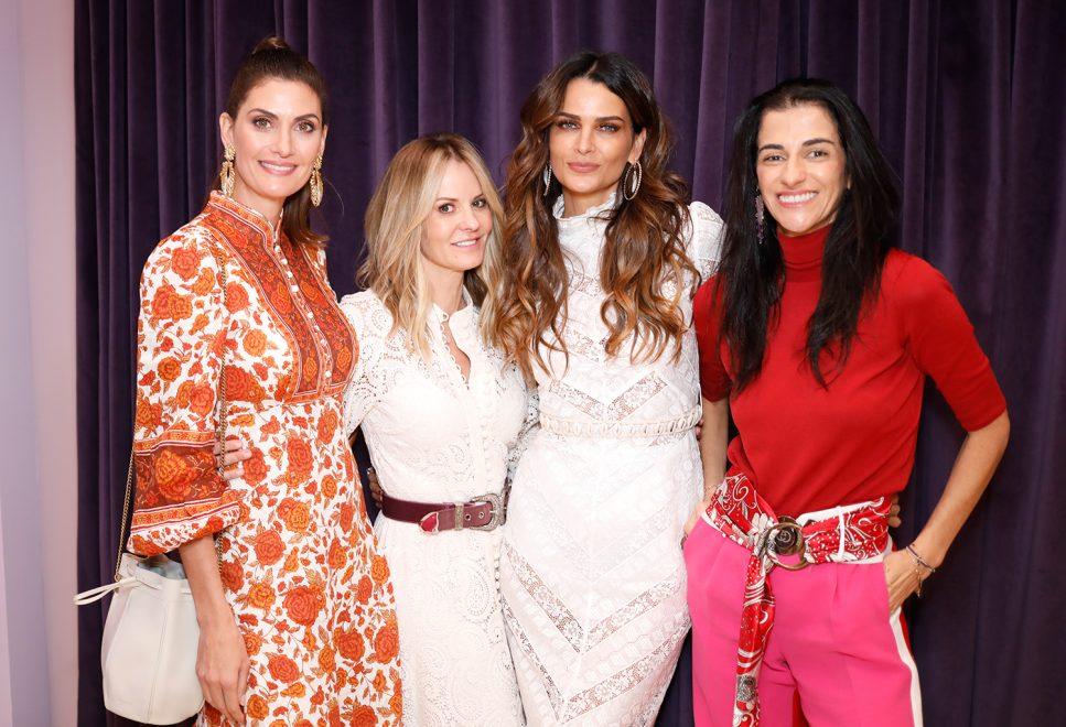 Isabella Fiorentino, Fernanda Motta e Joana Laprovitera entre os convidados da abertura da nova loja CJMARES, em SP