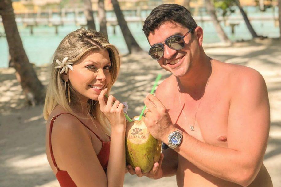 Jamille Duarte e Getúlio Pessoa curtem lua de mel na Polinésia Francesa