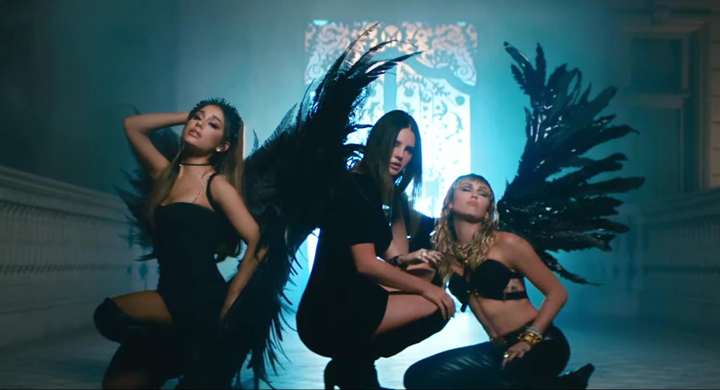"""""""As Panteras"""": Ariana Grande, Miley Cyrus e Lana Del Rey lançam a parceria """"Don't Call Me Angel"""""""